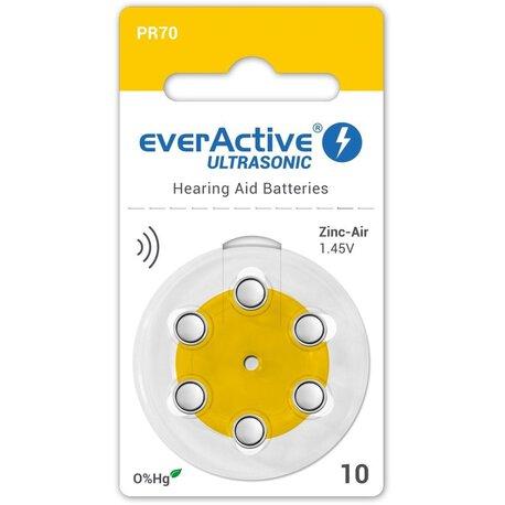 Baterie everActive ULTRASONIC typ 10 (PR70) blister (6 sztuk) (1)