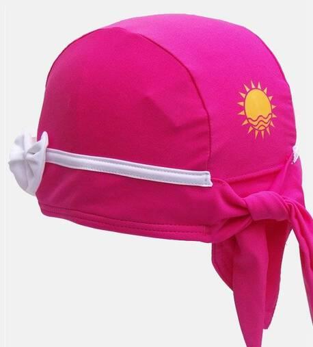 Czepek Nammu do pływania UV różowy z kokardką (1)