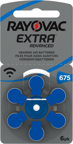 Baterie RAYOVAC 675 EXTRA ADVANCED blister (6 sztuk) (1)