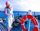 Czepek Nammu do pływania UV różowy z kokardką (6)