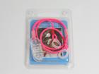 Zawieszka podwójna - neon różowy 9 mm (5)