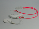 Zawieszka podwójna - neon różowy 9 mm (4)