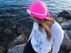 Czepek Nammu do pływania UV różowy z kokardką (7)